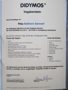 Zertifikat Trageberaterin
